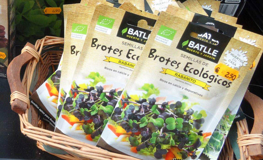 Sobres de semilla para germinados ecológicos