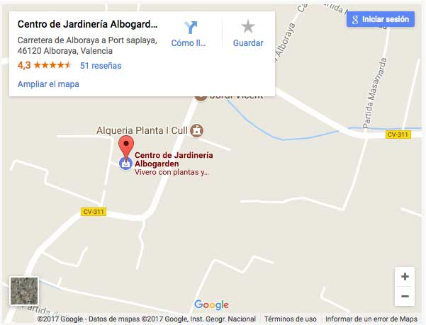 Albogarden en Google maps