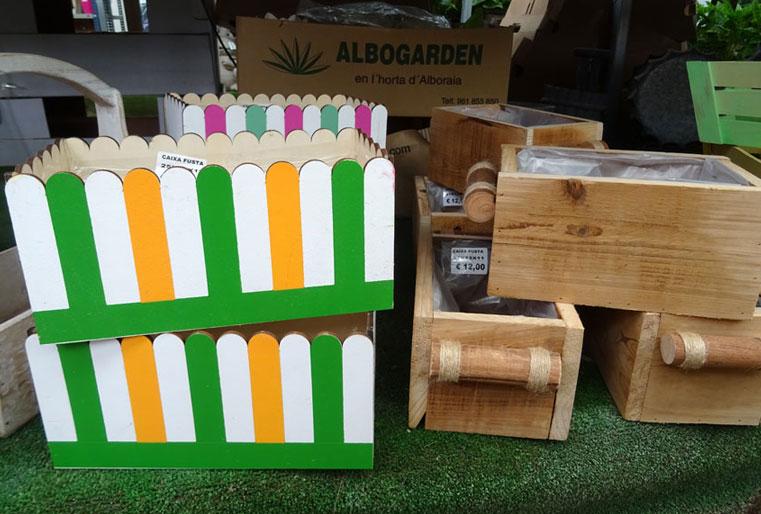 Cajas de madera en Albogarden