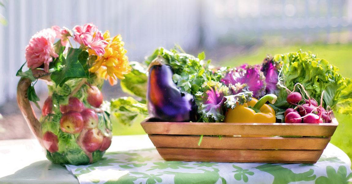 Recolección de hortalizas y flores