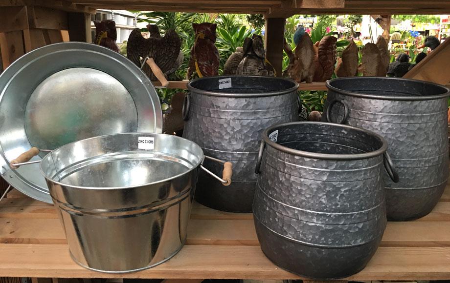 Macetas de zinc en Albogarden