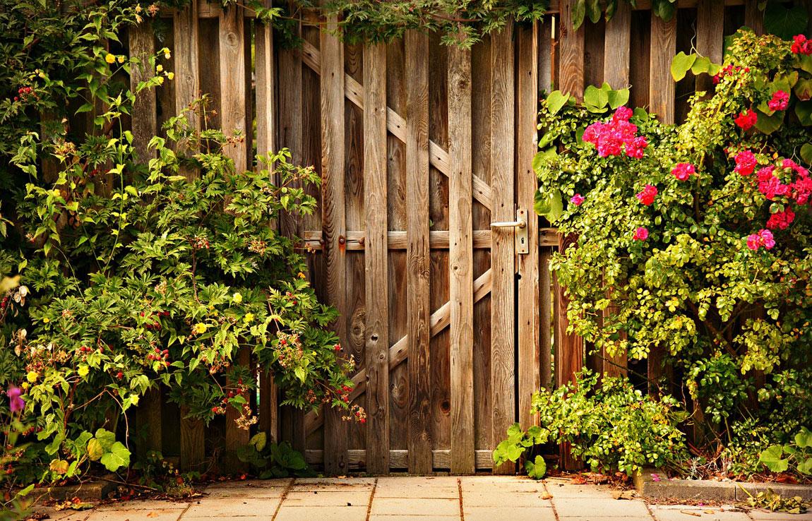 Jardín sobre valla