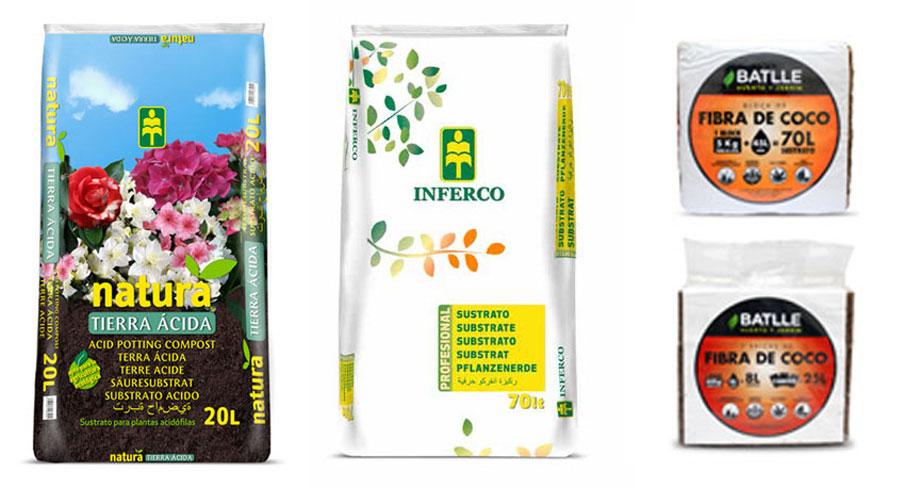 Sustrato para acidófilas, cannabis y fibra de cocob